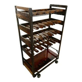 Vintage Shoe Rack Turned Wine Rack