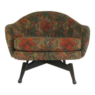 Mid-Century Modern Swivel Barrel Chair