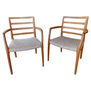 J.L. Moller Teak Dining Chairs - A Pair