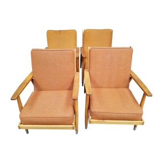 Vintage Danish Modern Lounge Chairs - Set of 4