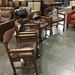 Image of Cowhide Chairs With Rollers - Set of 4
