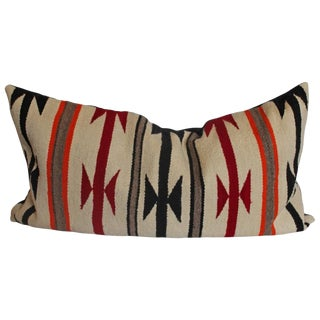 Geometric Navajo Indian Weaving Bolster Pillow
