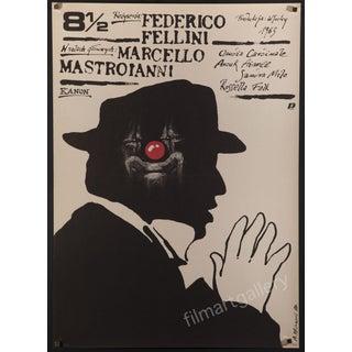 "Federico Fellini's ""8 1/2"" 1989 Polish Poster"