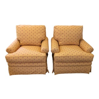 Custom Upholstered Armchairs - A Pair