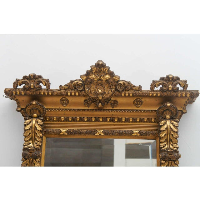 Gold Gilded Floor or Mantle Mirror - Image 3 of 9