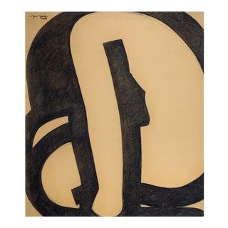 Jan Yoors 1970's Charcoal Drawings