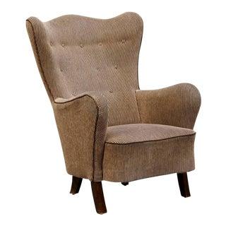 Danish Modern Wingback Armchair