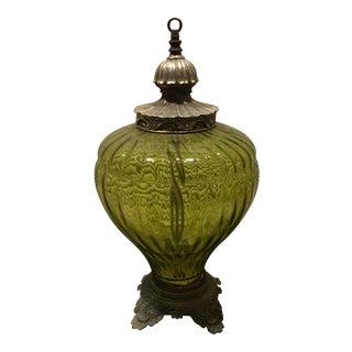 Antique Repurposed Oil Lamp
