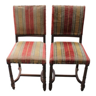 Vintage Spanish Revival Style Chairs - A Pair