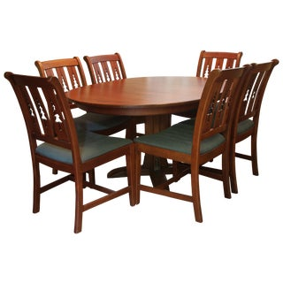 Vintage used nashville dining sets chairish for Dining table nashville tn