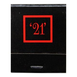 "The ""21"" Club Matchbook"