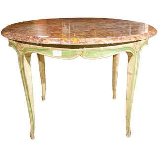 French Marble Top Center Table