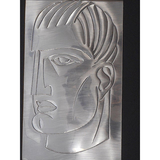 Original Mid Century Etching On Metal-Signed-Portrait - Image 5 of 5