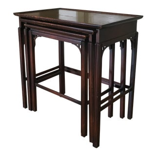 Chippendale/Chinoiserie Style Nesting Tables - 3