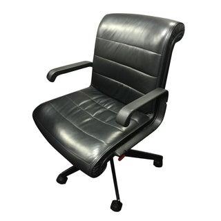Knoll Sapper Black Leather Chair