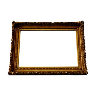 Antique Ornate French Mirror Original Gold Patina