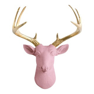 Pink & Gold Pink Faux Wall Bust