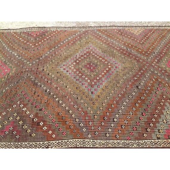 Image of Vintage Turkish Kilim Rug - 6' x 10'2''