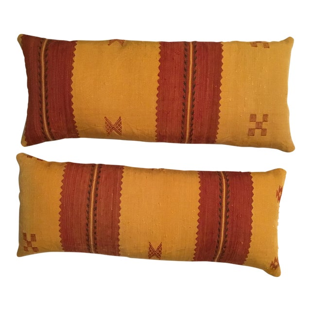 Moroccan Cactus Silk Pillow - A Pair - Image 1 of 11