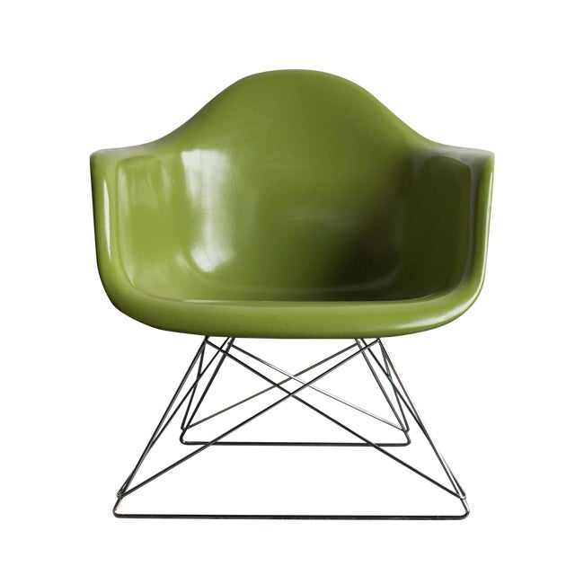 Vintage Green Eames Armchair on Modernica Base - Image 1 of 5