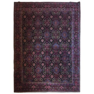 Finely Woven Tehran Dark Blue Carpet - 8′5″ × 10′10″
