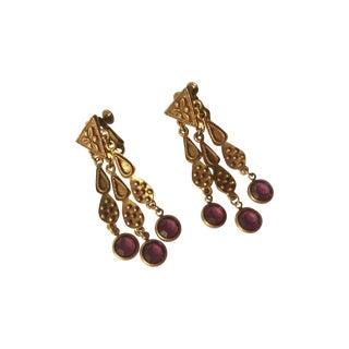 Purple Bohemian-Style Earrings