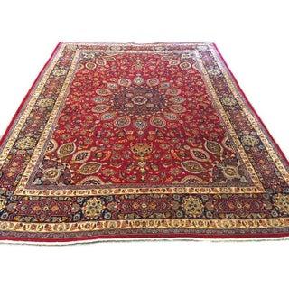 Vintage Persian Mashad Palace Rug - 9′9″ × 12′8″