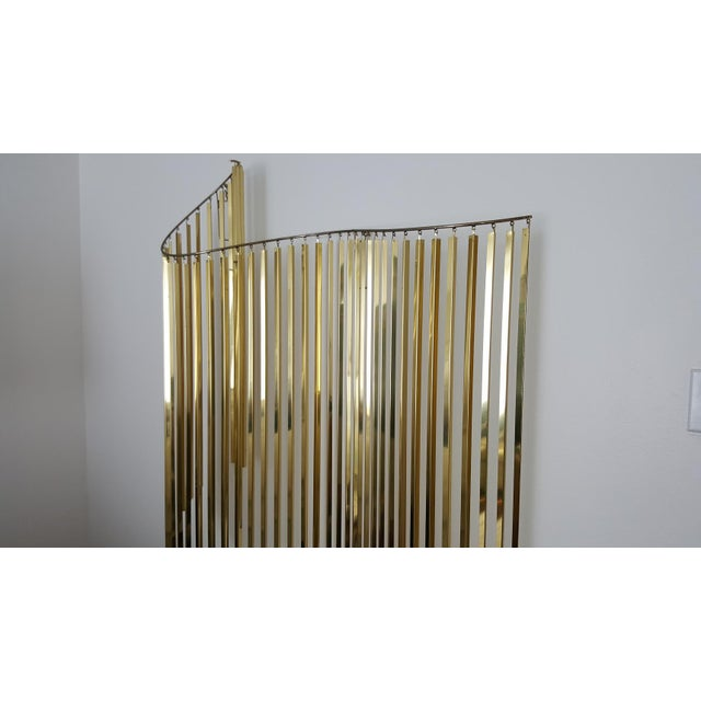 Curtis Jere Kinetic Wave Form Chrome & Brass Wall Sculpture - Image 4 of 11