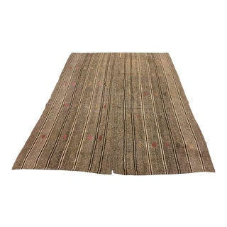 Turkish Stripe Kilim Rug - 6′3″ × 8′7″