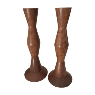 Mid-Century Modern Candlestick Holders