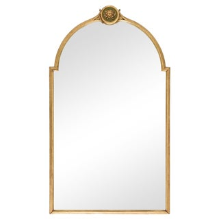 Neoclassical-Style Giltwood Mirror with Arched Top
