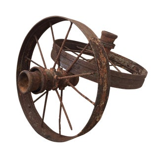 Antique Farm Wagon Wheels - A Pair