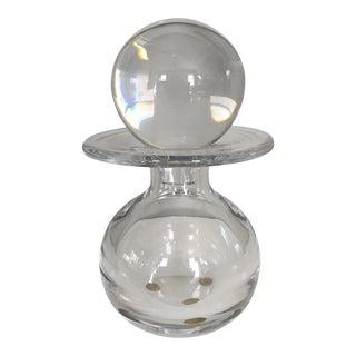 Val St Saint Lambert Modernist Crystal Decanter