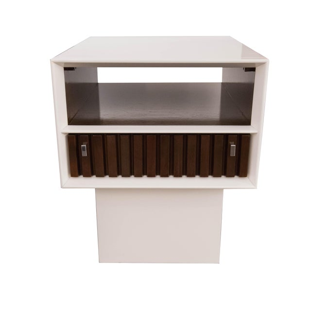 White Lacquer Side Tables - Image 1 of 5