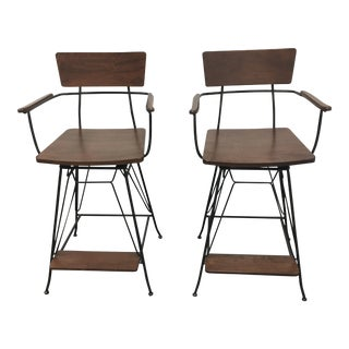 Crate & Barrel Elston Counter Stool - A Pair