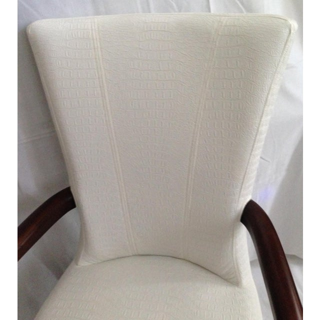 Image of Faux Crocodile Leather Italian Accent Chairs - a Pair