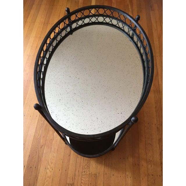 Dark Brass Mirrored Bar Cart - Image 3 of 3