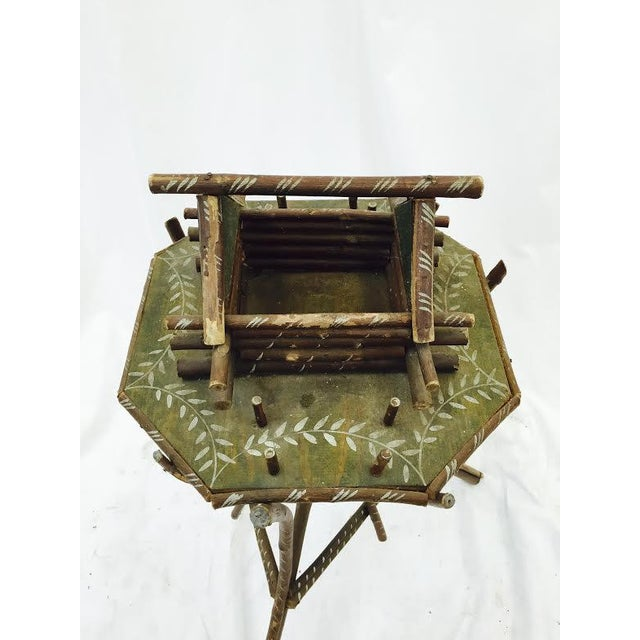 Folk Art Twig Game Table - Image 4 of 7
