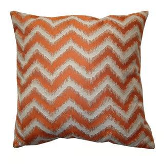 "18"" Orange Cream Chevron Pillow"