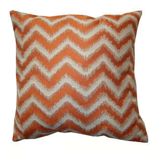 "18"" Orange Cream Chevron Pillow"