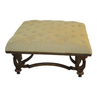 Tufted Beige Coffee Table/Ottoman