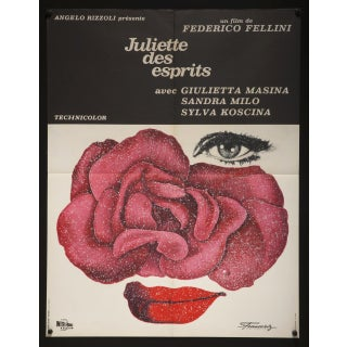 """French 1965 """"Juliet of the Spirits"""" Fellini Poster"""
