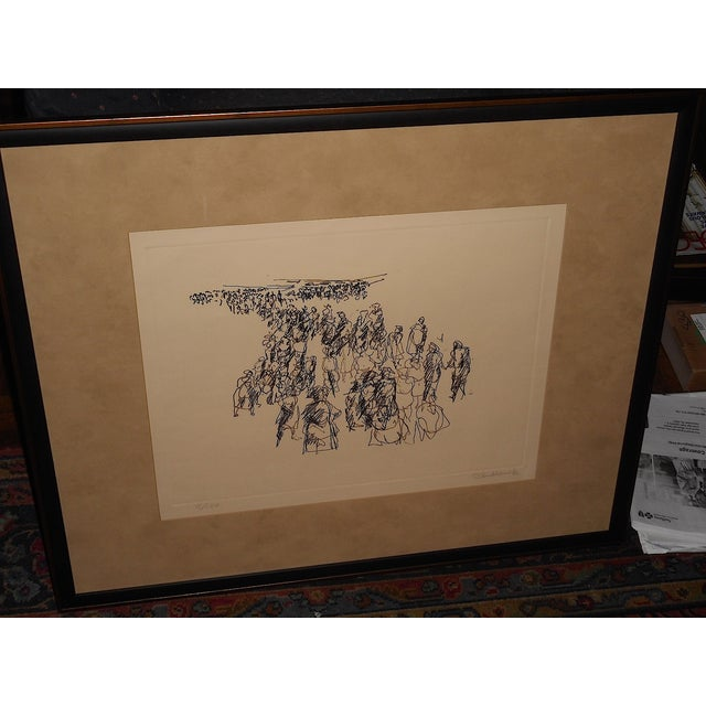 Image of Paul Chidlaw Vintage Abstract Expressionist Print