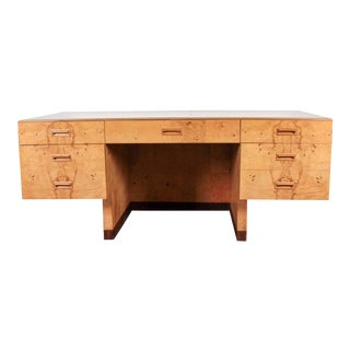 Paul Evans Henredon Mid-Century Olive Burl Desk