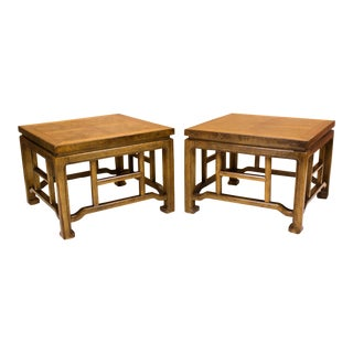 Asian Style Side Tables - A Pair