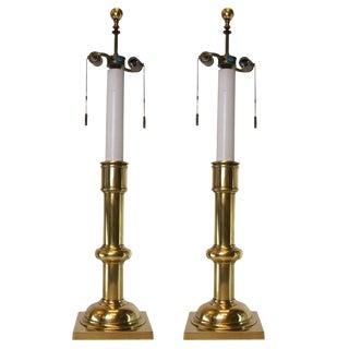 Pair of Classic Brass Stiffel Lamps