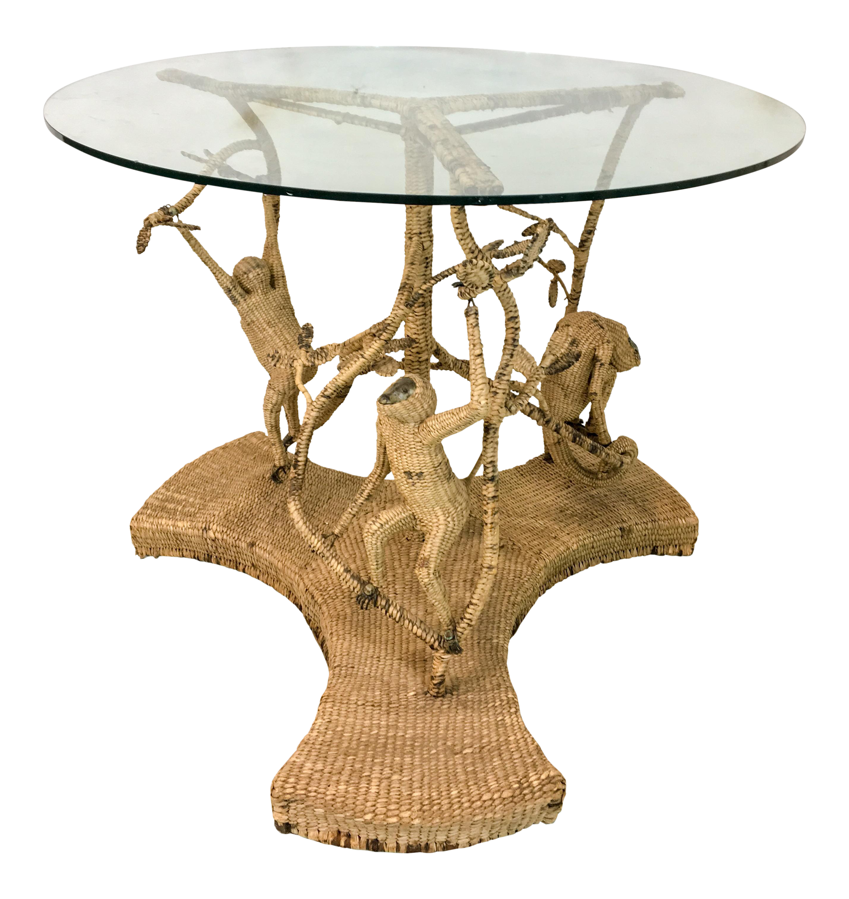 Mario Torres Wicker Monkey Table   Image 1 Of 6