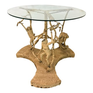 Mario Torres Wicker Monkey Table