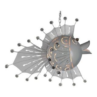 Metal Blowfish Accent Chandelier