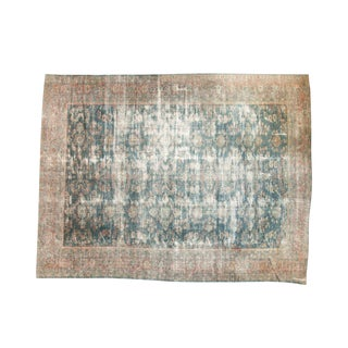 "Vintage Distressed Mahal Carpet - 9'8"" X 12'7"""